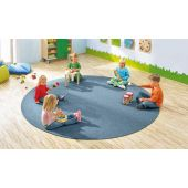 "Dura Carpet by HABA, 118"" Round, Blue Jean, 099935"