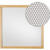 Square Silver Perforated Metal Message Board by HABA