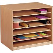 Forminant Paper Cabinet Base with 6 open shelves by HABA