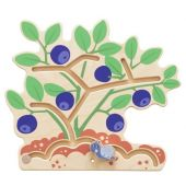 Blueberry Bush Interactive Wooden Play Wall Decoration by HABA