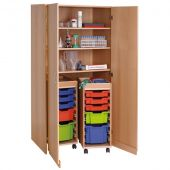 Forminant Material Cabinet with 2 rolling wagons by HABA