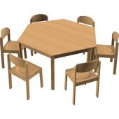 Hexagon All-Purpose Table & Chair Sets by HABA