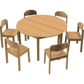 Circle All-Purpose Table & Chair Sets by HABA