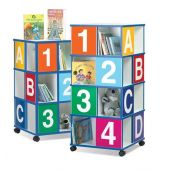 Four-Tier ABC/123 Book Display by Gressco