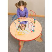 Wavy Legs Beads & Mirror Waiting Area Activity Table by Gressco