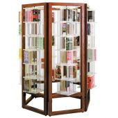 MAR-LINE® Rotor Book & Media Display by Gressco - Hexagon with 6 Tier Towers