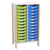 Linus Shelf Cabinet for Plastic Material Boxes by HABA