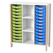 Linus Medium Wide Cabinet for Material Boxes w/Shelves by HABA, 379681*
