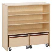 Move Upp Cabinet w/ 2 Rolling Bins
