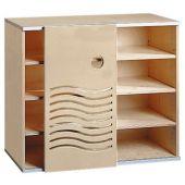 Move Upp Cabinet w/ Wave-Design Sliding Door & 3 Shelves by HABA