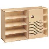 Move Upp Cabinet w/ Wave-Design Sliding Door & 9 Shelves by HABA
