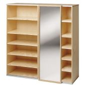 Move Upp Cabinet w/ Mirror Sliding Door & 15 Shelves by HABA