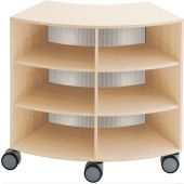 Move Upp Curved Cabinet w/ Perforated Metal Inside Radius by HABA