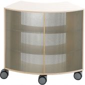 Move Upp Curved Cabinet w/ Perforated Metal Outside Radius by HABA