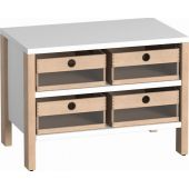 Linus Cabinet w/ 4 Acrylic Bins by HABA