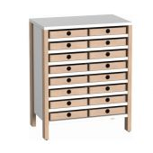 Linus Cabinet w/16 Wooden Bins by HABA