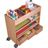Filled w/Art Supplies (not included)