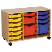 Forminant Mobile Material Cabinet 6 sets of 6 rails by HABA