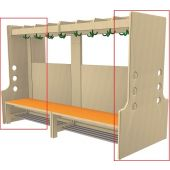 End Piece with Rail for Free-Standing Wardrobe Units by HABA