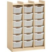Storage Cabinet for 18 Plastic Boxes by HABA