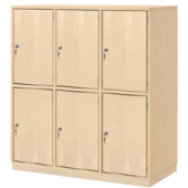 Book Bag Cupboards w/ Lockable Doors by HABA