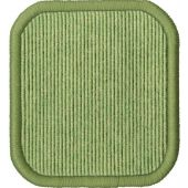 "Tretford 78 ¾"" Square Carpet w/ Stiched Edge by HABA"