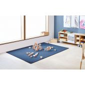 Dura Carpet by HABA, 78 3/4 x 78 3/4 Blue Jean, 099846