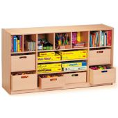 Forminant Room Partition with Shelves with 6 Wood Material Boxes by HABA