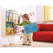 Wall Mounted Book Shelf 2 Compartment by HABA