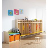 Hanging Wall Wardrobes w/ Seat by HABA