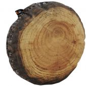 MeroWings® Annual Rings Log Slice Cushion