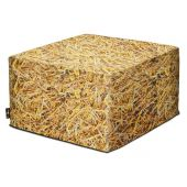 MeroWings® Straw Bale Square Pouf