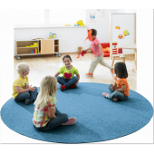 "Tretford 118"" Round Carpet w/ Stiched Edge by HABA"