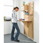 Wall Mounted Panel w/ Folding Table by HABA