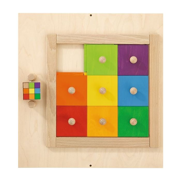 Colorful Squares Sensory Wall Activity Panel by HABA, 023145