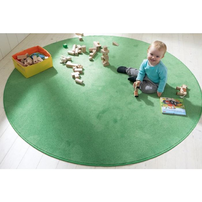 Soft Meadow Green Carpet by HABA, 78 3/4