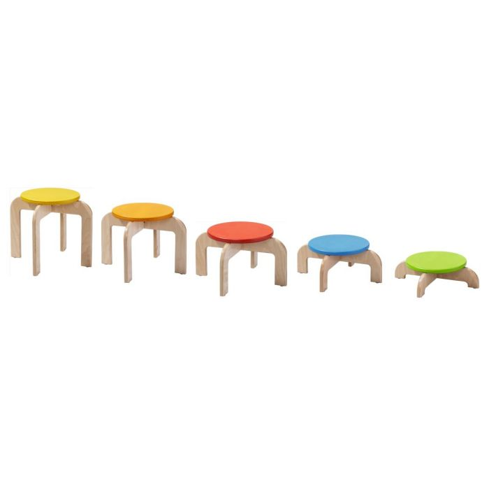 Balancing Staircase Variable Height Stools by HABA, 054700