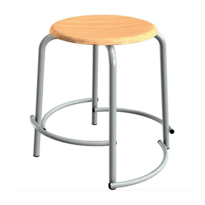School Stool with Varying Height Footrests by HABA