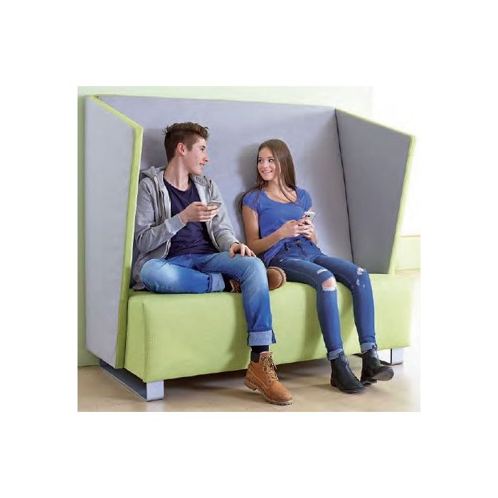 High-Back Double Sofa with Side Panels by HABA