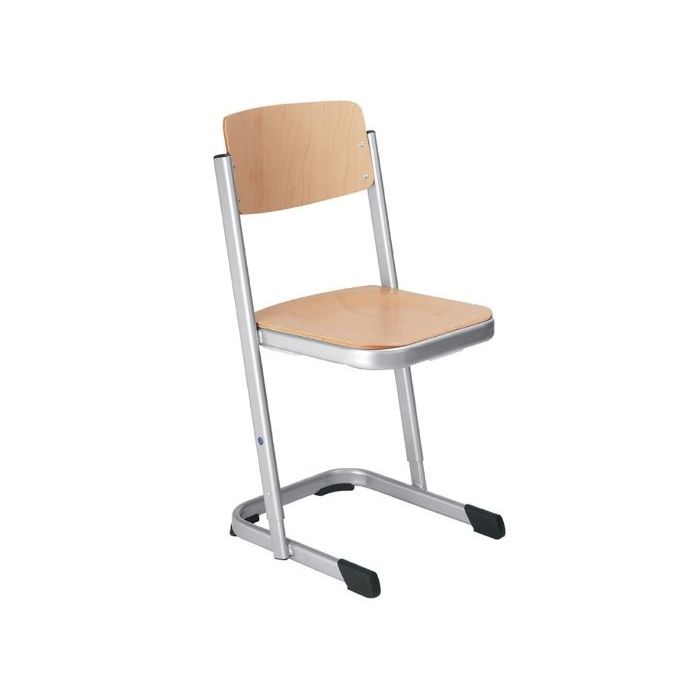 Logo Height-Adjustable Skid Base Chair by HABA