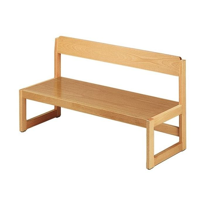 Beech Benches w/ Backrest by HABA