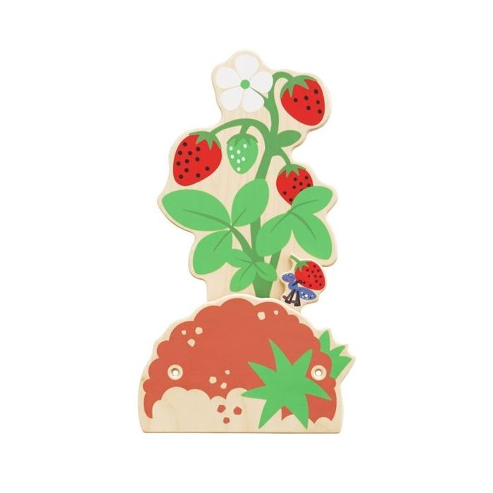 Strawberry Bush Interactive Wooden Play Wall Decoration by HABA