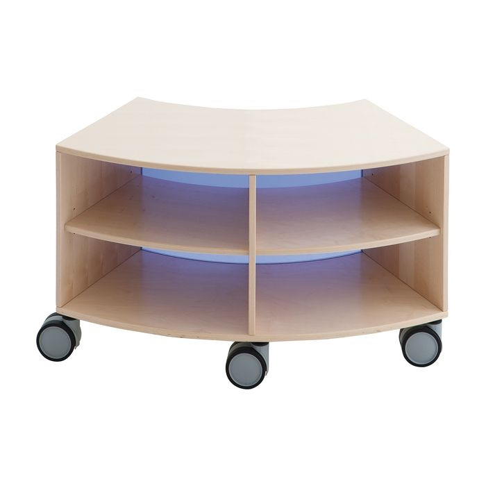 Move Upp Low Curved Cabinet w/ Acrylic Inside Radius by HABA