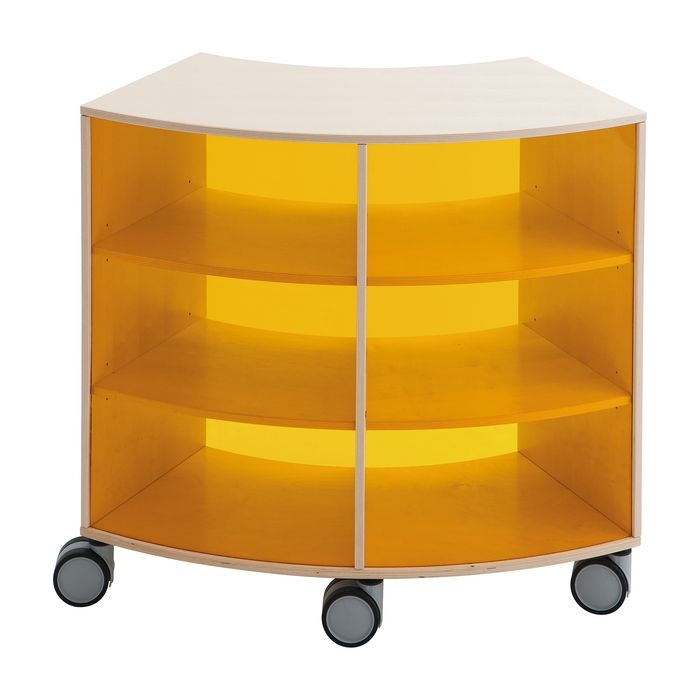 Move Upp Curved Cabinet w/ Acrylic Outside Radius by HABA
