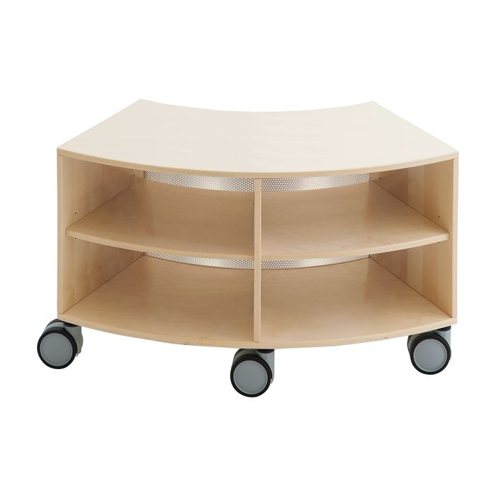 Move Upp Low Curved Cabinet w/ Perforated Metal Inside Radius by HABA