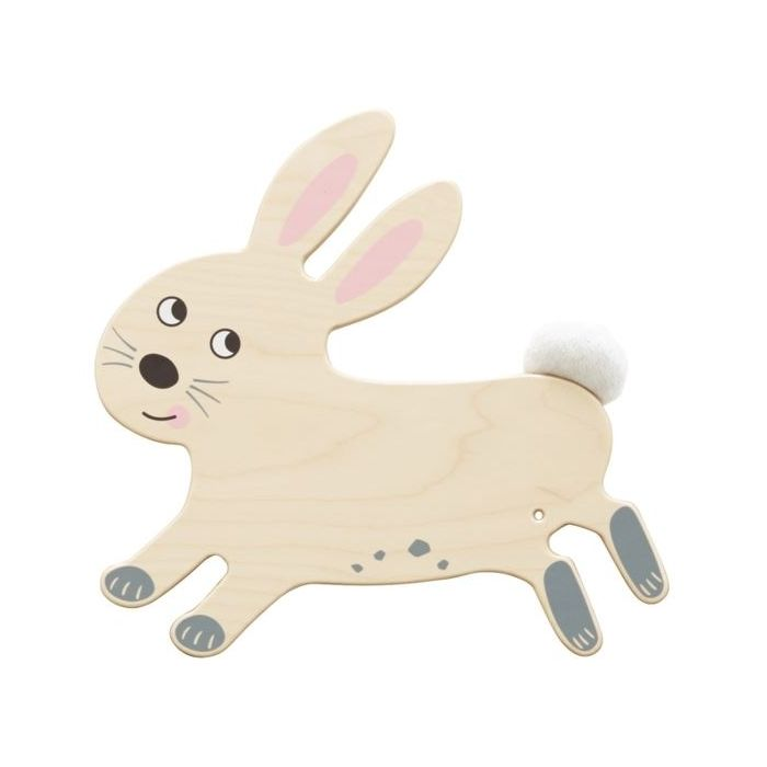 Rabbit Sensory Wooden Play Wall Decoration by HABA