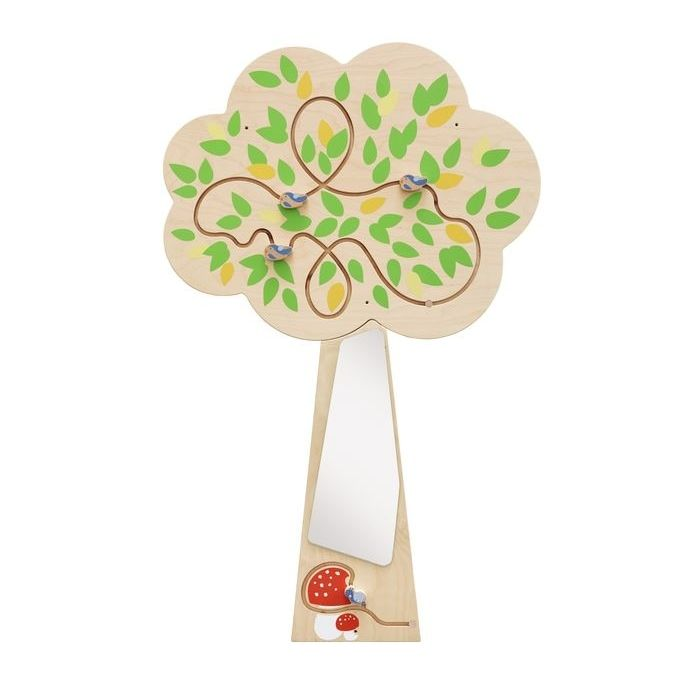 Tree Mirror Interactive Wooden Play Wall Decoration by HABA
