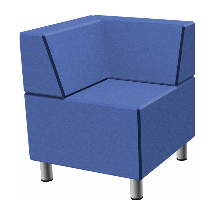 Relax Small Square Sofa with Seat Backs