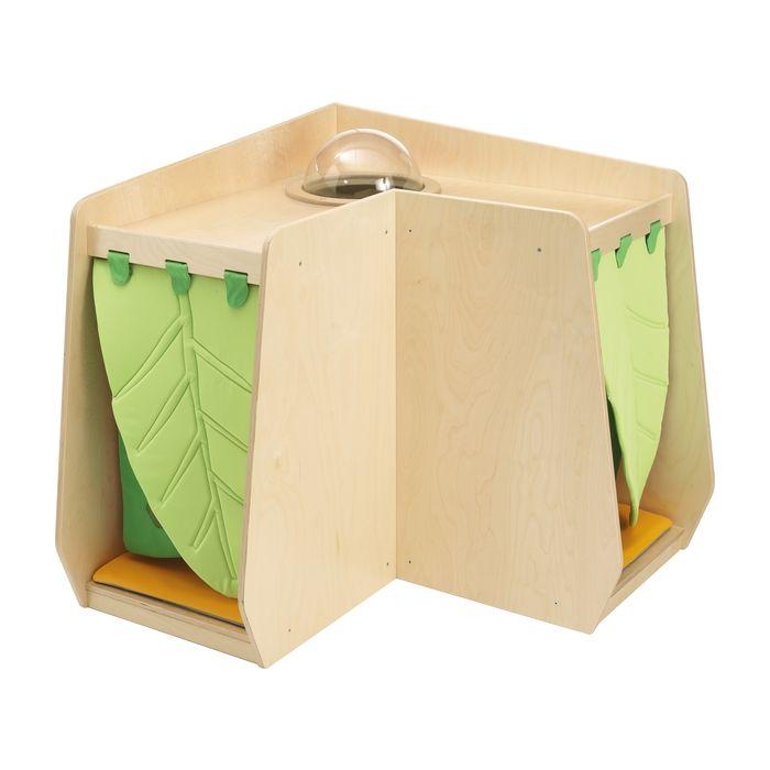 Grow.upp Corner Cabinet w/ Porthole and Leaf Curtains by HABA