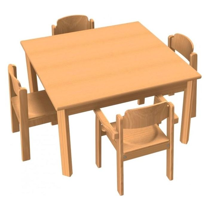 Square All-Purpose Table & Chair Sets by HABA